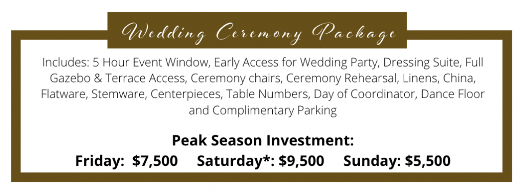 2023 Wedding Ceremony Package
